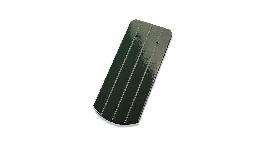 Verde brad glazurat - suprafata striata arc de cerc